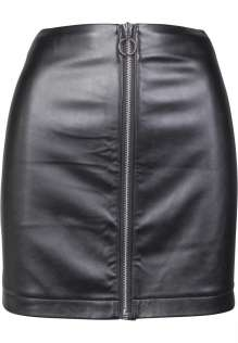 Ladies Faux Leather Zip Skirt Zoya