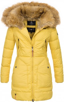 Marikoo ladies Winter jacket Knuddelmaus - Yellow