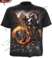 Biker T-shirt WHEELS OF FIRE