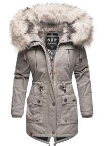 Navahoo Ladies Winter Parka Honigfee - Light Grey