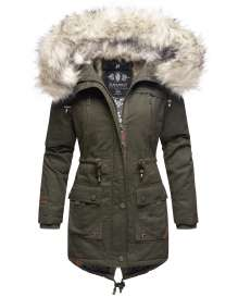 Navahoo Ladies Winter Parka Honigfee - Olive