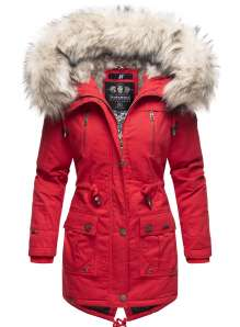 Navahoo Ladies Winter Parka Honigfee - Red