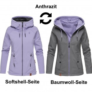 Women's reversible jacket softshell Chuu