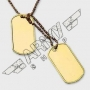 US dog tag set - Gold